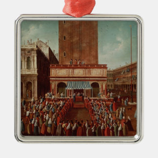 Public Lottery at Loggetta, the Piazza San Christmas Ornament