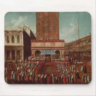 Public Lottery at Loggetta, the Piazza San Mouse Pad