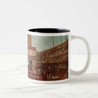 Public Lottery at Loggetta, the Piazza San Two-Tone Coffee Mug