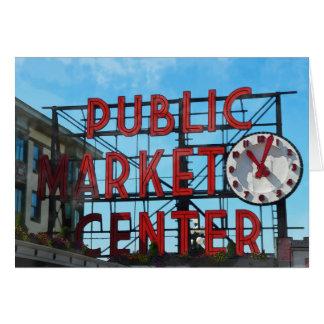 Public Market Center in Seattle Washington Card