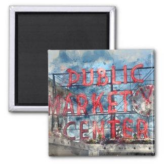 Public Market Center in Seattle Washington Magnet
