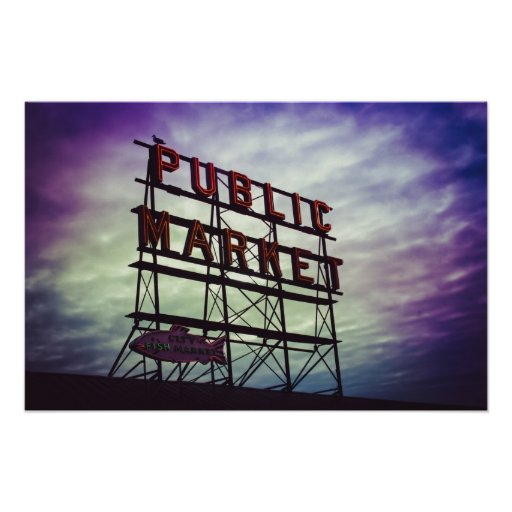 public market sign poster