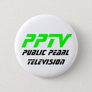 Public Pearl Television 6 Cm Round Badge