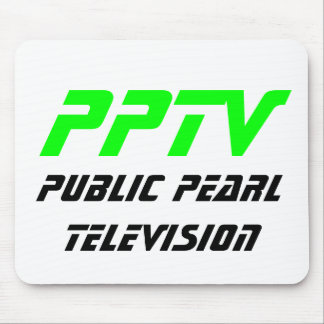 Public Pearl Television Mouse Pads