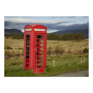 Public Phone Box, Ellishadder, near Staffin, Card