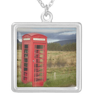 Public Phone Box, Ellishadder, near Staffin, Silver Plated Necklace