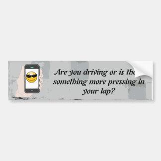 Public Safety / texting / crude bumper sticker