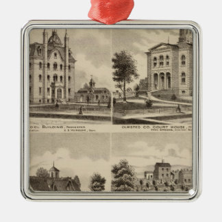 Public School, Court House, Minnesota Christmas Ornament