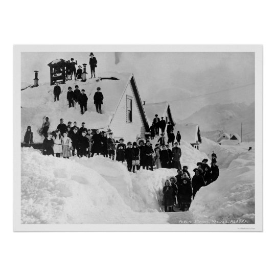 Public School Valdez, Alaska 1910 Poster