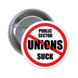 Public Sector Unions Suck 6 Cm Round Badge