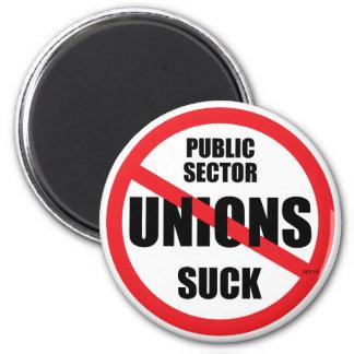 Public Sector Unions Suck 6 Cm Round Magnet