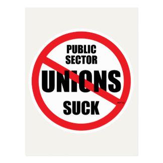 Public Sector Unions Suck Postcard