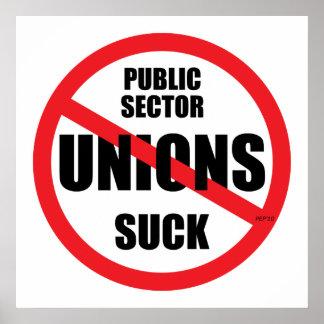 Public Sector Unions Suck Poster