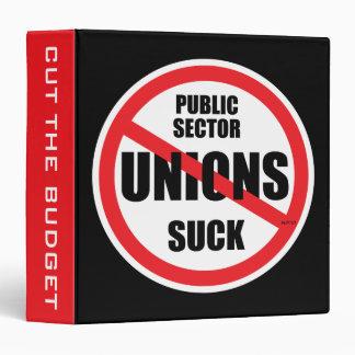Public Sector Unions Suck Vinyl Binder