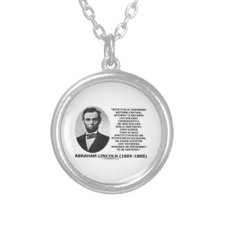 Public Sentiment Nothing Can Fail Lincoln Quote Personalized Necklace