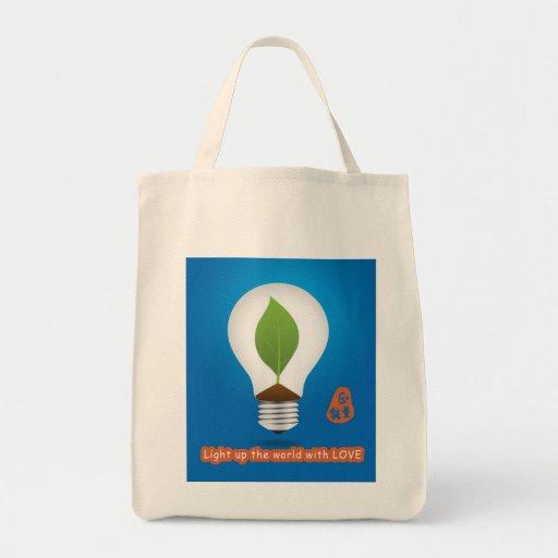 public service charity light up love bag