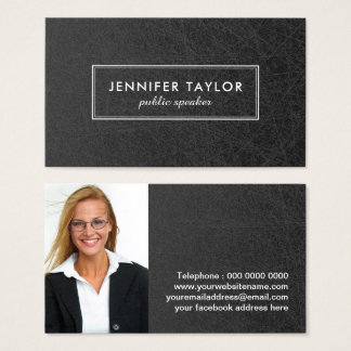 Public Speaker Business Card Template