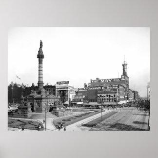 Public Square, Cleveland, 1900 Poster