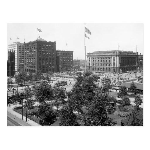 Public Square, Cleveland: 1915 Post Card