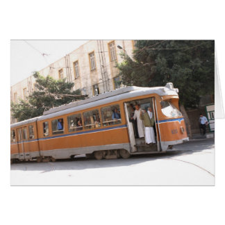 Public transit in Alexandria Egypt Greeting Cards