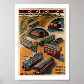 Public Transportation Union Poster