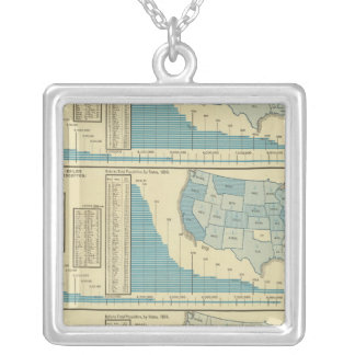Publications and circulation silver plated necklace