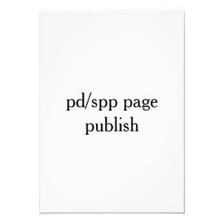 publish from pd/spp page card