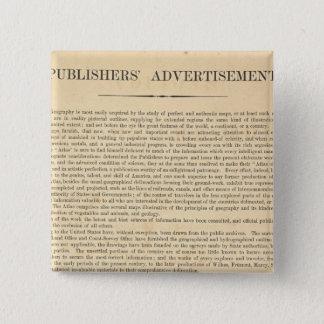 Publishers' Advertisement 15 Cm Square Badge