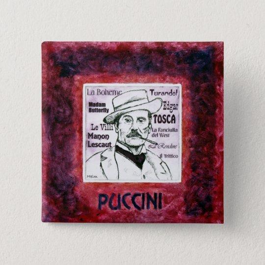 Puccini button / badge
