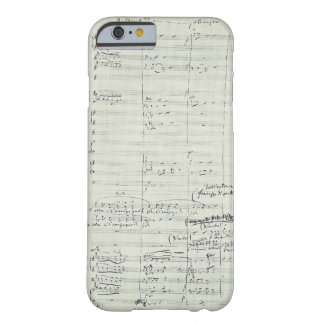 Puccini Opera La Bohème Music Manuscript Excerpt Barely There iPhone 6 Case