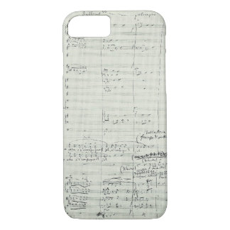 Puccini Opera La Bohème Music Manuscript Excerpt iPhone 7 Case