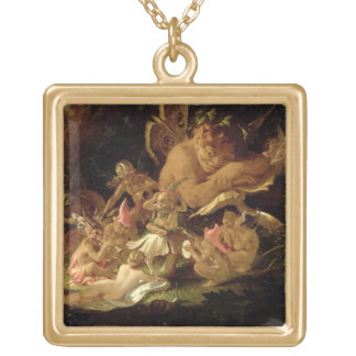 Puck and Fairies, from 'A Midsummer Night's Dream' Gold Plated Necklace