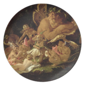 Puck and Fairies, from 'A Midsummer Night's Dream' Party Plate