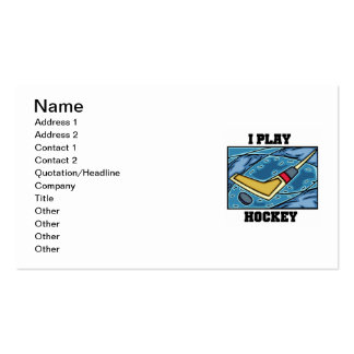 Puck and Stick I Play Hockey Tshirts and Gifts Pack Of Standard Business Cards