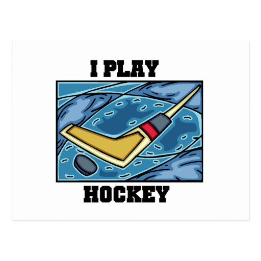 Puck and Stick I Play Hockey Tshirts and Gifts Postcards
