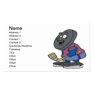 Puck Head Business Card Template