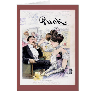Puck Magazine Cover April 1902 Greeting Card