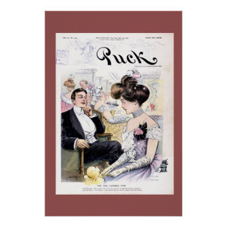 Puck Magazine Cover April 1902 Poster