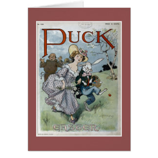 Puck Magazine Easter Cover Greeting Card