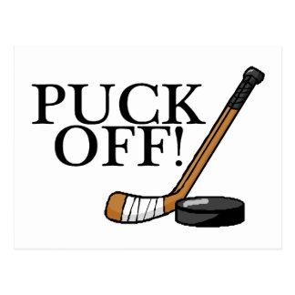 Puck Off Hockey Postcards