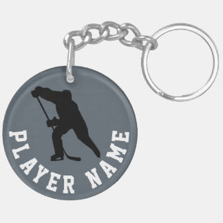 Puck & Player, Ice Hockey Key Chain