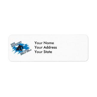 puck stops here ice hockey design return address label