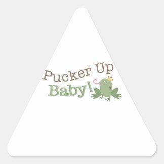 Pucker Up Baby! Triangle Sticker