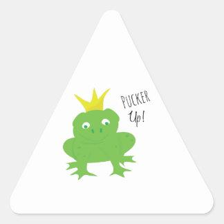 Pucker Up Triangle Sticker