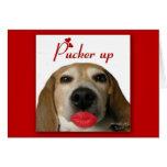 Pucker Up Valentine's Day Card