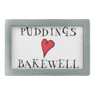Puddings love Bakewell, tony fernandes Belt Buckles