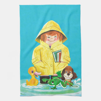 Puddles of Fun Tea Towel