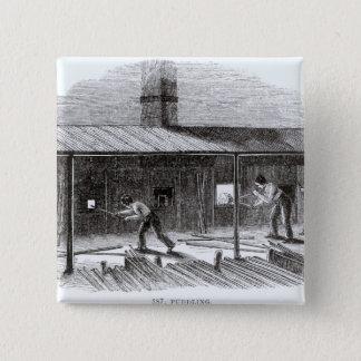 Puddling 15 Cm Square Badge