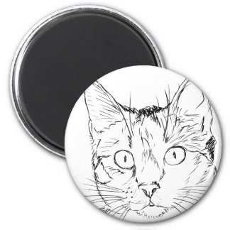 Puddy Cat 6 Cm Round Magnet