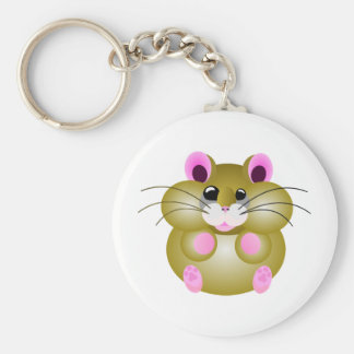 Pudgy Hamster Key Ring